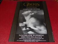 COLL. J.LE BOURHIS DANSE BALLET/ AFFICHE OPERA PARIS GARNIER PINA BAUSCH 1991