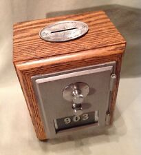 Antique Vintage Post Office Door Mail Box Postal Bank-1966 American Device