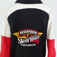 VTG RED BARON PIZZA STEARMAN SQUADRON USA MADE K-PRODUCTS JACKET SZ 2XL