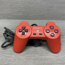 SONY Playstation PS1 Red Wired Controller TESTED SCPH-1080 Official OEM Rare FS