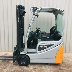 STILL RX20-16. USED 3 WHEEL ELECTRIC FORKLIFT. (#3432)