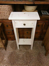 H100 W40 D20cm BESPOKE UNTREATED 1 DRAWER 1 SHELF CONSOLE HALL SIDE TABLE