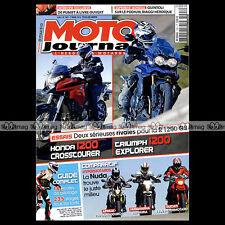 MOTO JOURNAL N°1991 DUCATI 1100 HYPERMOTARD HUSQVARNA 900 NUDA HONDA CROSSTOURER