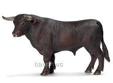 Schleich 13722 Black Spanish Fighting Bull Toy Cow Model Figurine - NIP