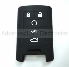5 Buttons Silicone Remote Key Fob Case Holder Cover Fit Cadillac SRX SLS CTS