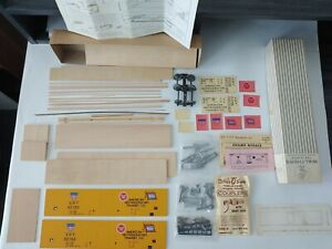 Walthers O SCALE WOOD REFRIGATOR Kit 5404 2-RAIL EXTRA SIDES -ART