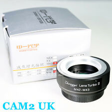 Zhongyi Lens Turbo II Focal Reducer Adapter M42 Mount to Micro 4/3 MFT Gh4 Om-d