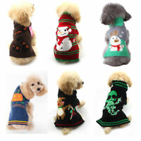 Halloween Christmas Pet Clothes Cat Dog Sweater Winter Knit Jumper Coat Apparel