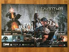 Quantum Theory Xbox 360 PS3 2010 Vintage Poster Ad Art Print Promo RPG Rare