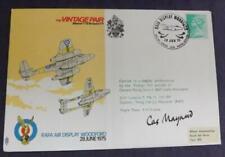 1975 Vintage Pair RAFA Air Display Woodford Flown Cover Signed J Maynard MFL