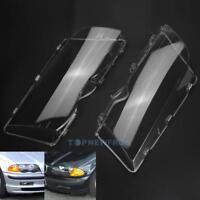 For BMW E46 98-01 3 Series Headlight Lenses Headlamp Clear 4 Door Lamp Cover