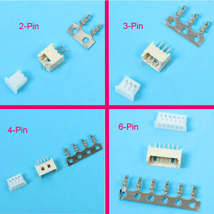 100 Sets 1.25mm Mini Micro JST GH 2 3 4 5 6Pin Connector Plug Female Male