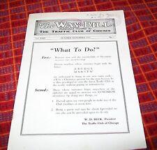 THE WAY BILL. THE TRAFFIC CLUB OF CHICAGO MAGAZINE. OCT-NOV 1933. BRITISH RLYS