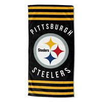 Northwest NFL Pittsburgh Steelers Football Stripes Beach Towel 30''x 60'' NEW