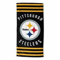 Northwest NFL Pittsburgh Steelers Football Stripes Beach Towel 30''x 60'' NEW