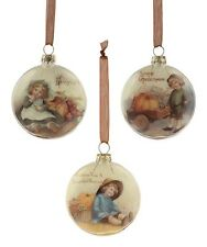 Bethany Lowe Set of 3 Different Thanksgiving Glass Ornaments Sn5823 New