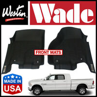 Westin Wade Sure-Fit Custom Molded 12-18 Ram 2500/3500 Mega Cab Front Floor Mats
