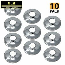 [10-Pack] Procuru 1/2-Inch Cts Escutcheon Flange Plate Pipe Cover, Chrome-Plated