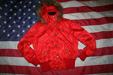 SOUTHPOLE Red Hoodie Puffer Coat Size Large: jacket/winter/dressy/fashion  #3745