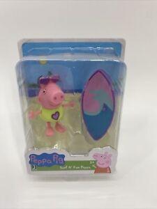 "Peppa Pig Surf N' Fun Peppa 2.5"" Mini Figure Jazwares New !"