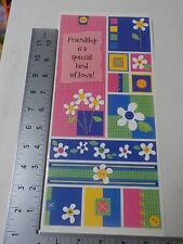 PEBBLES INC. FUNKY FLOWERS BRIGHT SAMPLER FRIENDSHIP STICKERS SCRAPBOOKING A3109