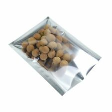 Many Sizes Heat-Sealable Clear Silver Shiny Foil Open Top Pouch Food Storage Bag