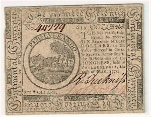 Continental Currency May 10, 1775 High Grade
