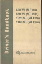 BMC WF 600 830 1025 1160 Truck 1967-68 Original Owners Handbook Pub. No.4141E