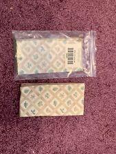 Longaberger Lattice Leaf set of 2 napkins New