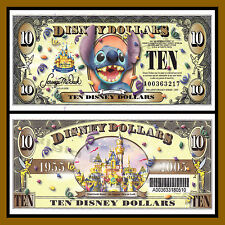 """Disney 10 Dollars, 2005 Series """"A"""" Stitch """"With Barcode"""" Disneyland Uncirculated"""