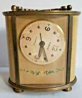 Vintage Semca Mantle Alarm Swiss Made Clock Brahms Waltz 7 Jewels Works