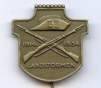Sweden WWI Landstormen 1914-1934 Badge Pin Nice Grade !!!