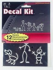Chroma Stick People Decal Kit 12 Pieces Decals #5309 Family