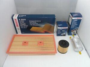 Audi A3 1.6 FSI Service Kit Oil Air Fuel Filter 2003 to 2012 BOSCH 115BHP