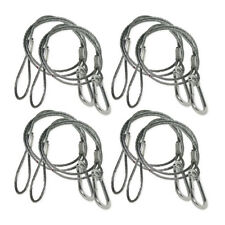 8x Chauvet DJ CH-05 Safety Cable Bond with threaded carabiner 800mm