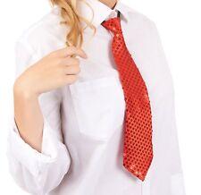 Krawatte Pailletten Glitzer Krawatte Party Fasching Pailletten Krawatte Rot