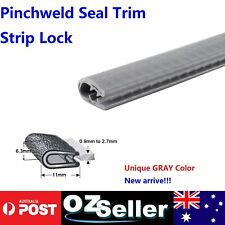 5M Grey Pinchweld Seal Rubber U Channel Edge Trim Ute Cab Door Boot Protector