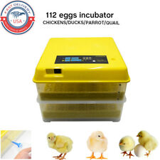 112 Eggs Bird Duck Incubator Digital Hatcher Fully Turning Automatic Hatching