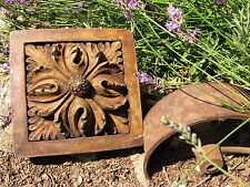 Garden art! Oriental Poppy vintage cement plaque shabby primitive decor flower