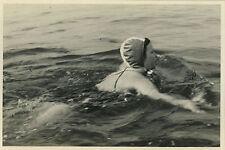 PHOTO ANCIENNE - VINTAGE SNAPSHOT - FEMME NATATION NAGEUSE NAGE BAIN SPORT -SWIM
