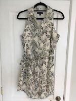 Banana Republic Cream and Black Shirt Dress - Small. UK 10
