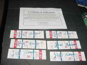 lot (6) HANK AARON signed auto autograph 1982 ATLANTA BRAVES BASEBALL TICKET coa