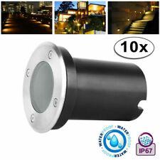 LED Projecteur Encastré au Sol GU10 230V IP67 de Jardin RGB Géothermique Plat