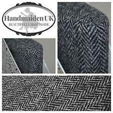 Harris Tweed Fabric & labels BLACK & WHITE HERRINGBONE upholstery tailoring suit