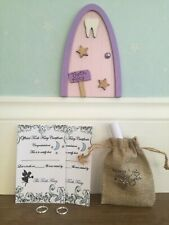 tooth fairy notes, certificates letter, coin bag & sparkly  door