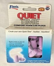 Flents QUIET TIME 10 Pair Pack Comfort Foam Ear Plugs with Carrying Case