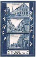 Ansichtskarte Bünde/Westfalen - Bahnhofstrasse/Eschstrasse/Kaiser Wilhelmstrasse