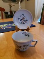 VINTAGE SPODE QUEEN'S BIRD FINE STONE ENGLAND Y4973 London-shaped Cup/Saucer Set