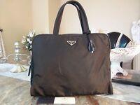 US seller PRADA NYLON SMALL BRIEFCASE HAND BAG PURSE BLACK LOCK & KEYS