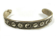 TAXCO Mexico .925 Sterling Silver Aztec Cuff Bracelet Handcrafted